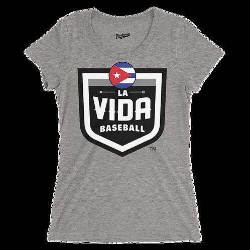 CUBA La Vida Baseball Country Crest Women's T-Shirt