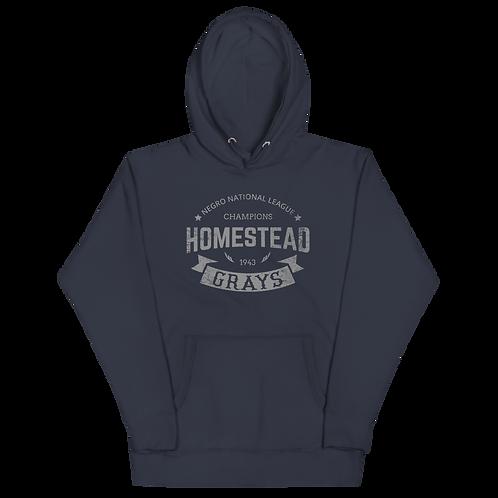 1943 Champions - Homestead Grays - Forbes Field - Unisex Premium Hoodie