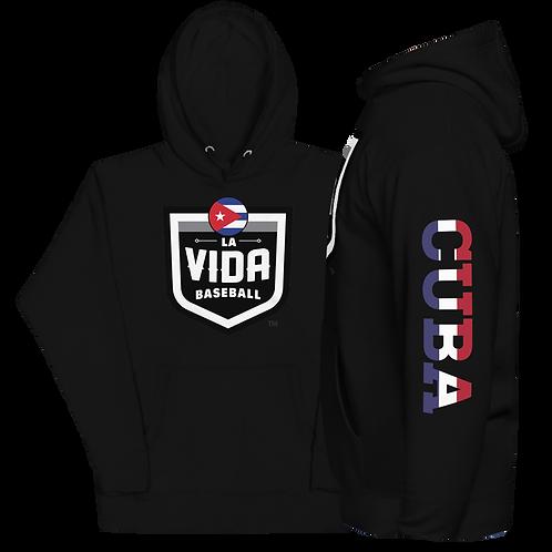 CUBA La Vida Baseball - Country Crest Unisex Premium Hoodie