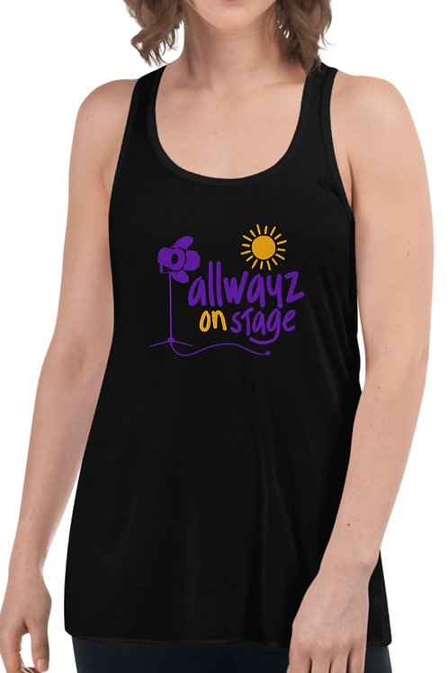 ALLWAYZ ON STAGE Women's Flowy Racerback Tank