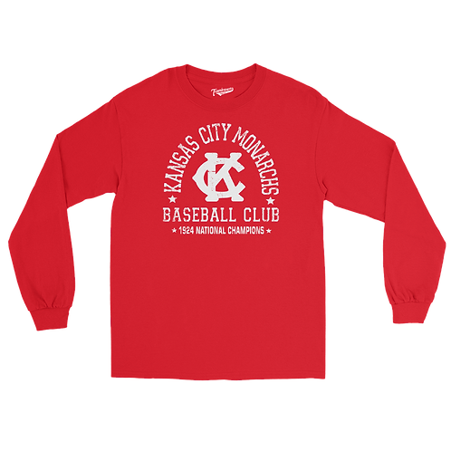1924 Champions - Kansas City Monarchs - Unisex Long Sleeve Crew T-Shirt