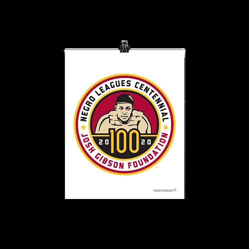 Josh Gibson Foundation Centennial Logo by Todd Radom - Matte Paper Giclée