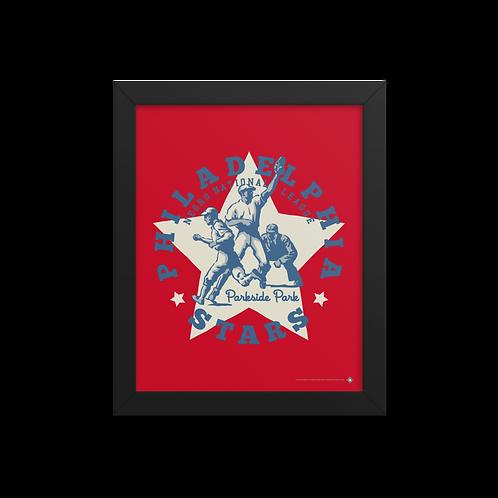 NNL Philadelphia Stars by Gary Cieradkowski - Giclée-Print Framed