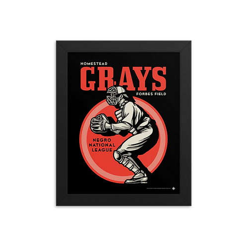 NNL Homestead Grays by Gary Cieradkowski - Giclée-Print Framed