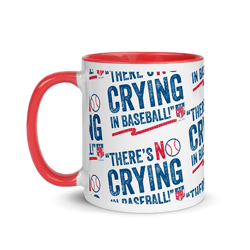 No Crying - AAGPBL Logo 11oz Mug