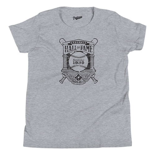 Baseball Hall of Fame Crest Logo - Youth T-Shirt