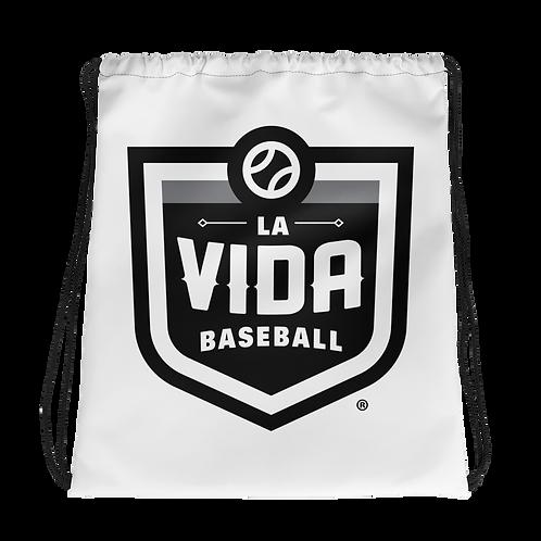La Vida Baseball Drawstring Bag