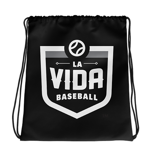 La Vida Baseball Drawstring Bag