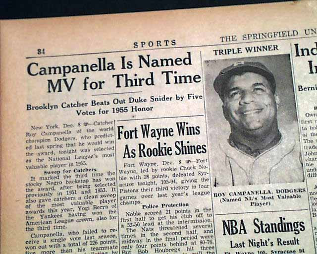 Roy Campanella wins his third MVP award