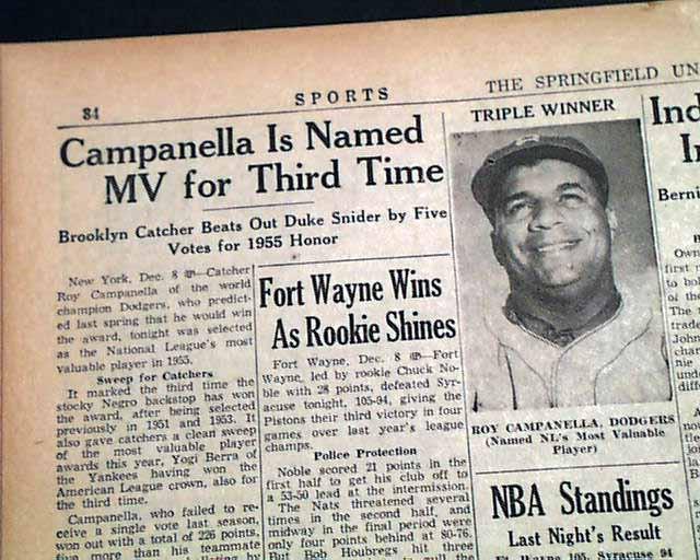 Roy Campanella wins his third MVP award