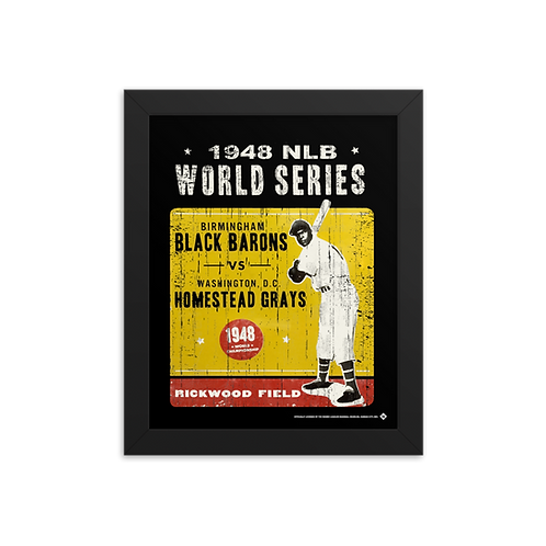 1948 NLB World Series - Giclée-Print Framed