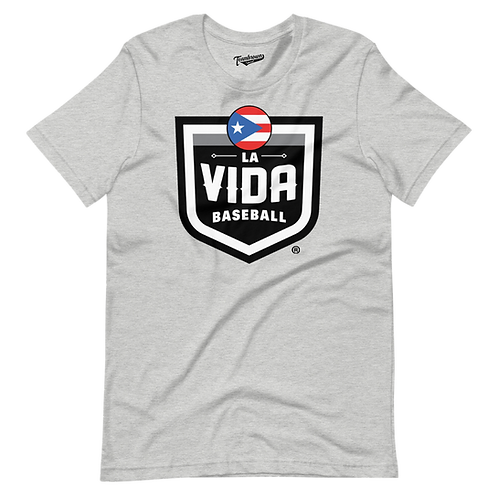 PUERTO RICO La Vida Baseball Country Crest - Unisex T-Shirt
