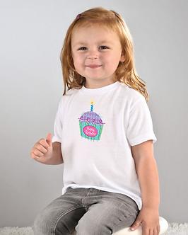 Cupcake Birthday - Toddler T-Shirt