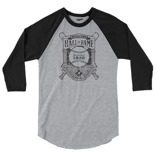 Baseball Hall of Fame - Crest Logo - Baseball Shirt