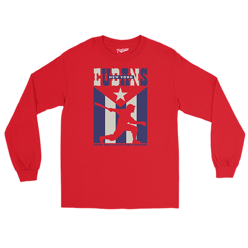 NNL New York Cubans - Unisex Long Sleeve Crew T-Shirt