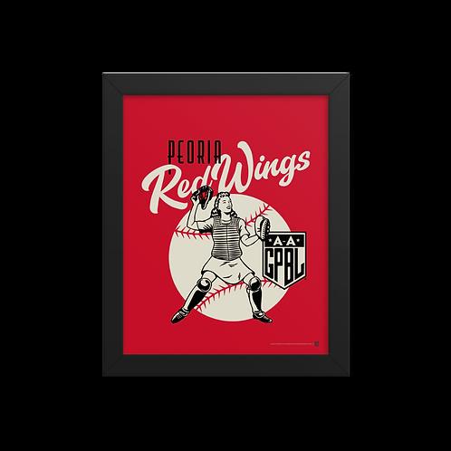 WOTD Peoria Redwings by Gary Cieradkowski - Giclée-Print Framed