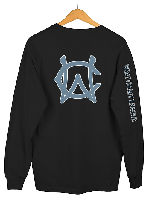 WCL - West Coast League Unisex Fleece Pullover Crewneck - Sleeve Name Optional