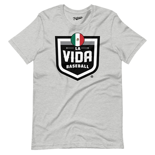 MEXICO La Vida Baseball Country Crest - Unisex T-Shirt