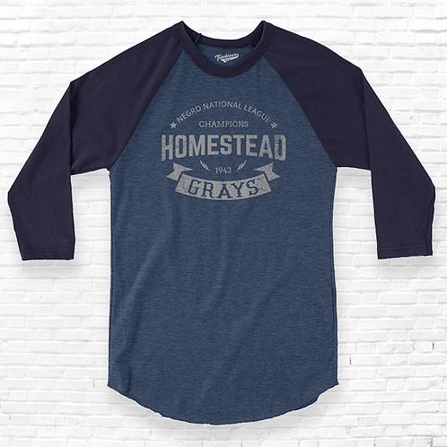 1943 Champions - Homestead Grays - Forbes Field - Unisex Baseball Shirt