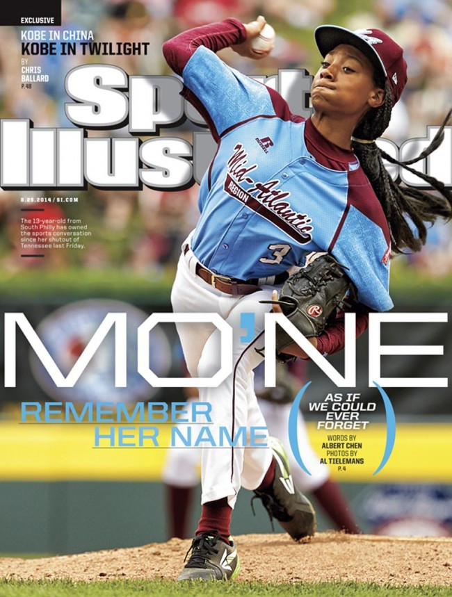 Mo'ne Davis on the cover of Sports Illustrated magazine