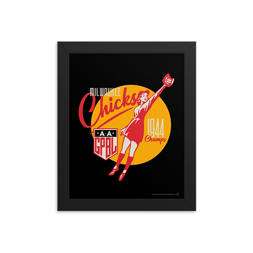 WOTD Milwaukee Chicks by Gary Cieradkowski - Giclée-Print Framed
