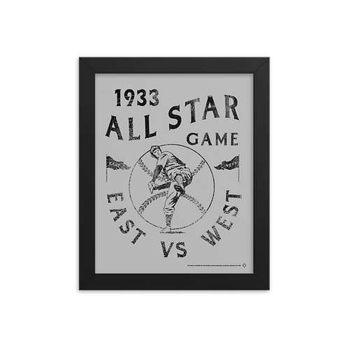 1933 East vs West All Star Game - Giclée-Print Framed