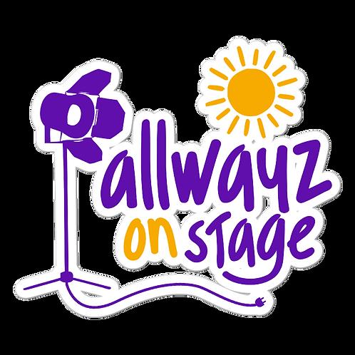 ALLWAYZ ON STAGE Stickers 3x3