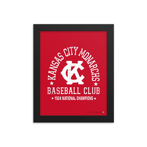 Kansas City Monarchs Stadium 1924 Champions - Giclée-Print Framed