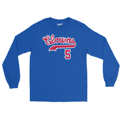 Indianapolis Clowns Hammer Time Unisex Long Sleeve Crew T-Shirt