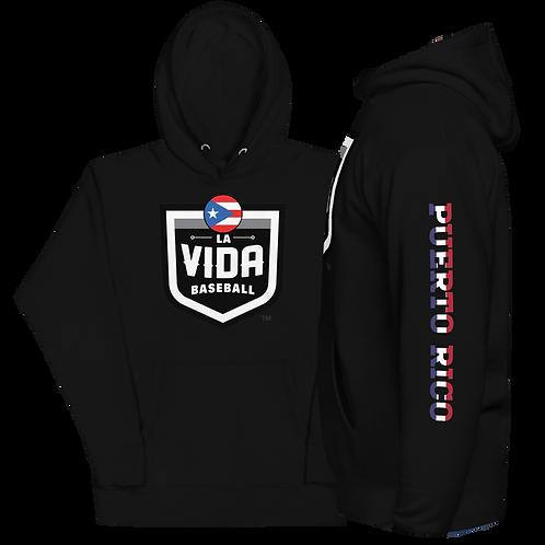 PUERTO RICO La Vida Baseball - Country Crest Unisex Premium Hoodie