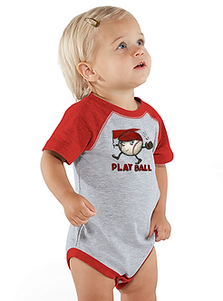 Play Ball - Infant Vintage Fine Jersey Baseball Onesie (Wholesale)