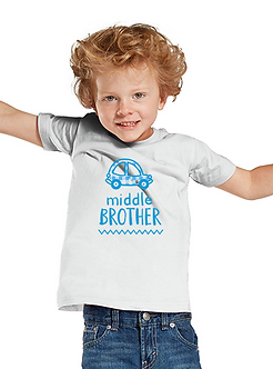 Middle Brother Car - Toddler T-Shirt