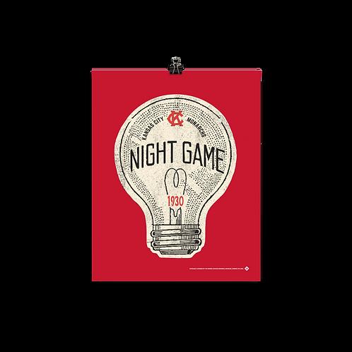 1st Night Game - KC Monarchs 1930 - Matte Paper Giclée
