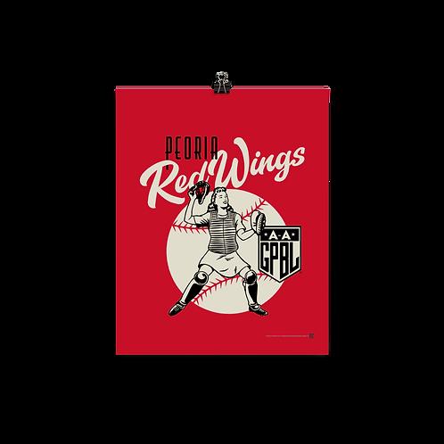 WOTD Peoria Redwings by Gary Cieradkowski - Matte Paper Giclée