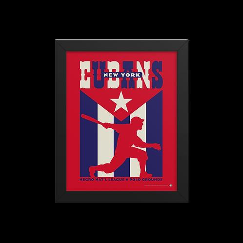 NNL New York Cubans by Gary Cieradkowski - Giclée-Print Framed