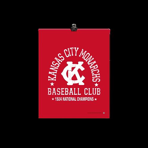 Kansas City Monarchs - 1924 Champions - Matte Paper Giclée