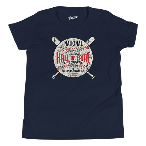 Baseball Hall of Fame Circle Logo - Youth T-Shirt