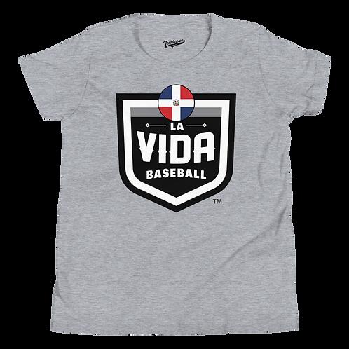 DOMINICAN REPUBLIC La Vida Baseball Country Crest - Kids T-Shirt