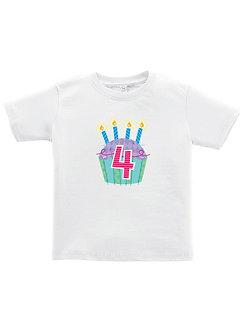 Cupcake 4th Birthday - Toddler T-Shirt