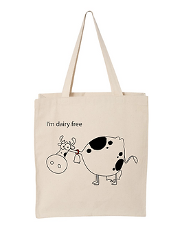 Dairy Free Canvas Tote