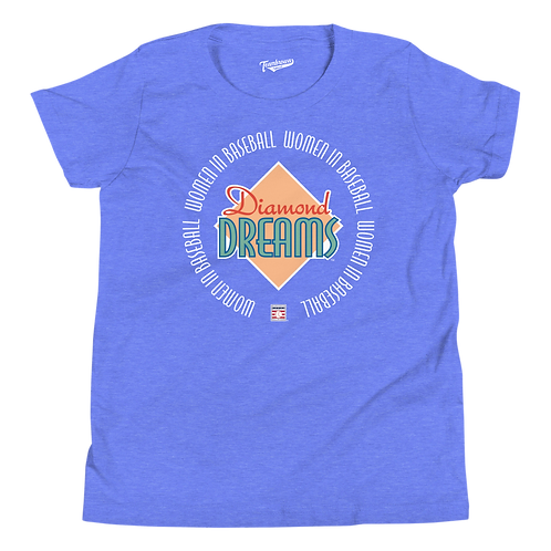 Diamond Dreams - Women In Baseball - Youth T-Shirt