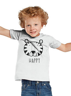 Happy Tiger - Toddler White