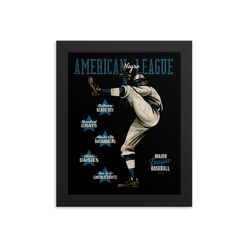 American Negro League - Giclée-Print Framed