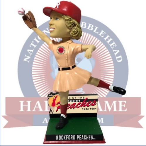Rockford Peaches Wall Catch - AAGPBL Bobblehead (Pre-Order)