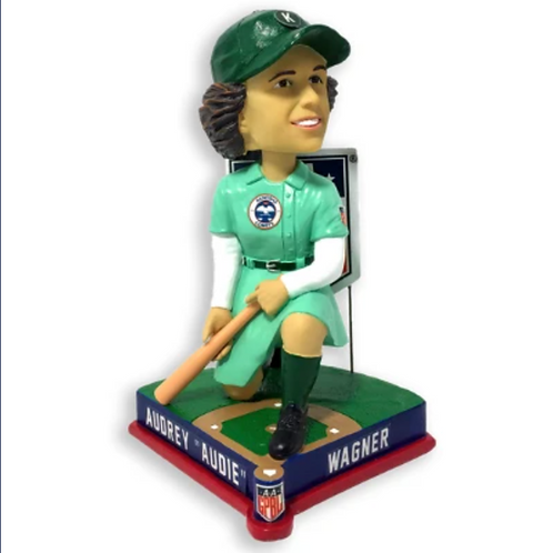 PRE-SALE - Audrey Wagner - Kenosha Comets - AAGPBL All-Star Bobblehead