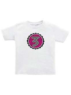 Zebra & Dots 3rd Birthday - Toddler T-Shirt