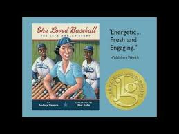 She Loved Baseball: The Effa Manley Story, written by Audrey Vernick and illustrated by Don Tate