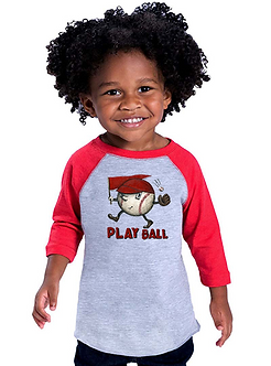 Play Ball - Toddler Vintage Fine Jersey Baseball T-Shirt (Wholesale)
