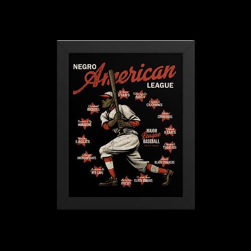 Negro American League - Giclée-Print Framed