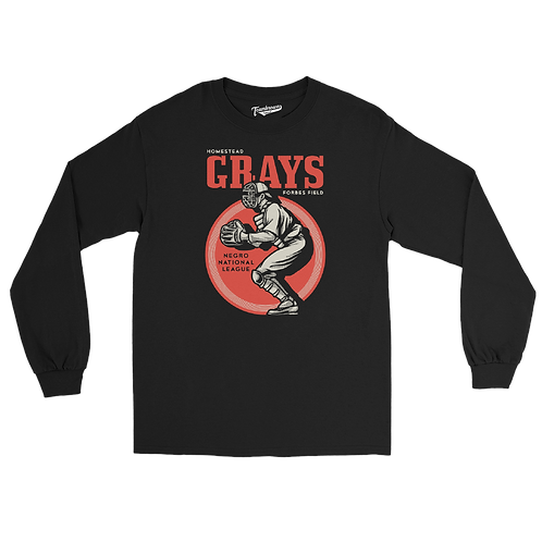 NNL Homestead Grays - Unisex Long Sleeve Crew T-Shirt
